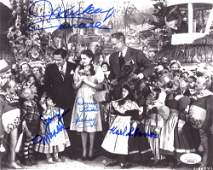 """""""The Wizard Of Oz"""" 8x10 Photo Cast-Signed by (4) with M"""