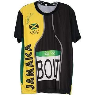 Usain Bolt Signed Autographed Track Jersey Beckett JSA