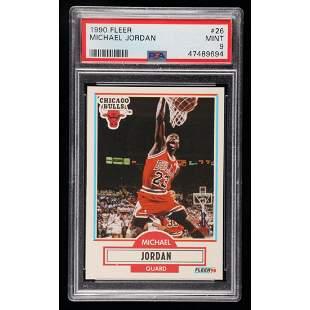Michael Jordan 1990-91 Fleer #26 (PSA 9)