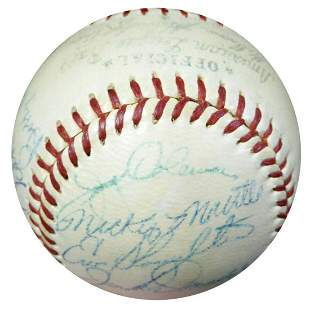 1954 New York Yankees Autographed AL Baseball With 23