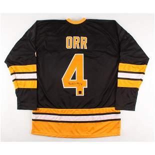 Bobby Orr Signed Custom Stitched Jersey (Orr COA)
