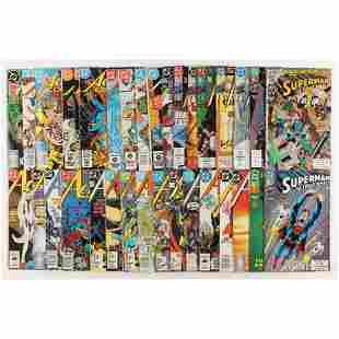 "Lot of (33) 1983-1993 ""Action Comics"" DC Comic Books"