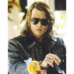 Johnny Depp Signed 11x14 Blow Sunglasses Photo PSA DNA