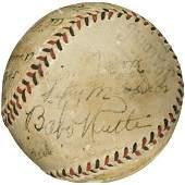 1933 Babe Ruth & Lou Gehrig Multi-Signed Baseball PSA