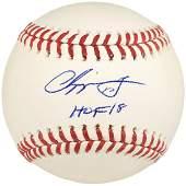 Chipper Jones Autographed Official MLB Baseball Atlanta