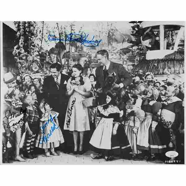 """""""The Wizard of Oz"""" 11.5x14.5 Photo Cast-Signed by (4)"""