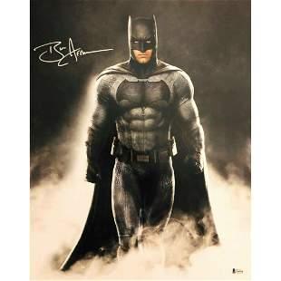 "BEN AFFLECK ""JUSTICE LEAGUE"" AUTOGRAPH SIGNED 'BATMAN'"
