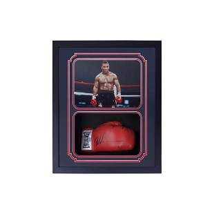 Mike Tyson Signed Custom Framed Boxing Glove jsa coa