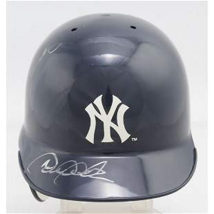 Derek Jeter & Jorge Posada Signed Yankees Mini Batting