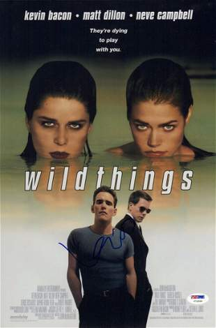 KEVIN BACON SIGNED WILDTHINGS 10X15 MOVIE POSTER PSA