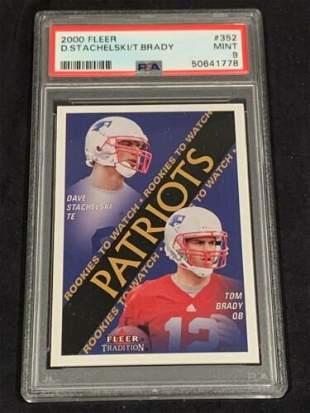 2000 Fleer Tom Brady Rookie Card PSA 9 PATRIOTS #352
