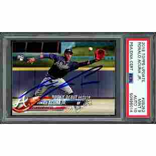 Ronald Acuna Jr. Autographed 2018 Topps Update Rookie