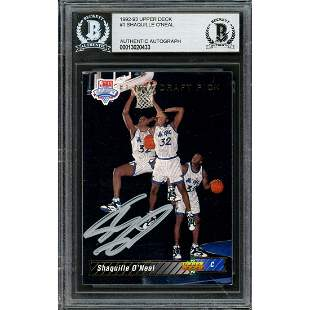 Shaquille Shaq O'Neal Autographed 1992-93 Upper Deck