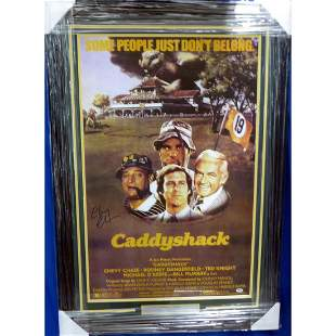 Chevy Chase Autographed Framed 24x36 Caddyshack Movie
