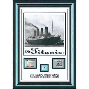 authentic TITANIC COAL relic piece w/COA, R.M.S Titanic