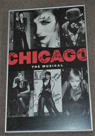 Chicago Broadway Revival Musical Framed Autographed
