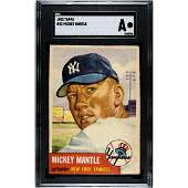 1953 Topps Mickey Mantle SGC A RARE ICONIC CARD