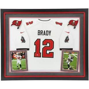 Tom Brady Tampa Bay Buccaneers Deluxe Framed
