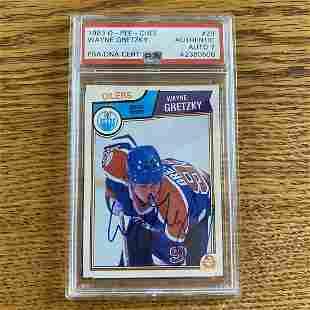 Wayne Gretzky Signed Card 1983 O-Pee-Chee Hockey