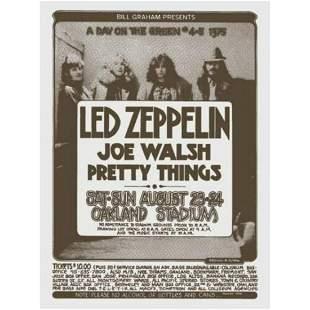 Led Zeppelin Joe Walsh Bill Graham 1975 Original