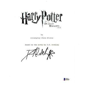 DANIEL RADCLIFFE SIGNED HARRY POTTER AND THE DEATHLY