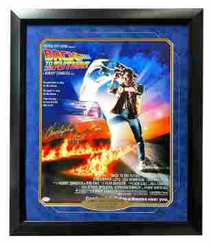 Christopher Lloyd Signed Framed Back To Future 11x17