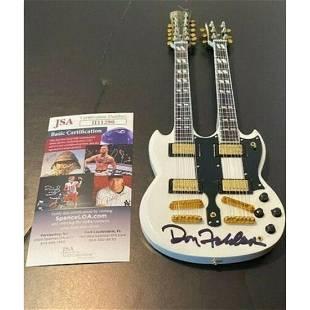"Eagles Band Signed Don Fingers Felder 10"" Double Neck"