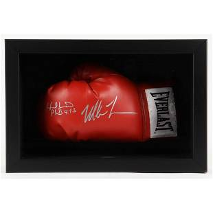 Mike Tyson & Evander Holyfield Signed 11x16x6 Custom