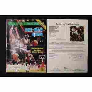 Michael Jordan hand signed SI Magazine JSA COA
