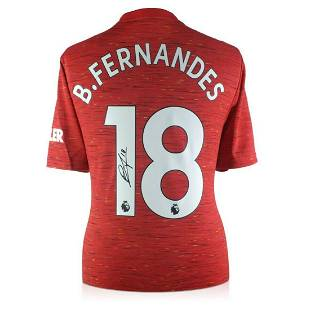 Bruno Fernandes Hand Signed Manchester United Jersey