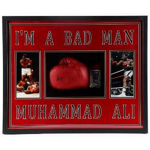 Muhammad Ali Signed 31.5x25.5x4 Custom Framed Boxing