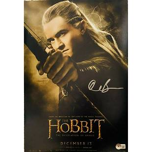 Orlando Bloom Signed 11x17 The Hobbit Poster Photo