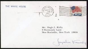Jacqueline Kennedy Onassis Signed 3.65x6.5 White House