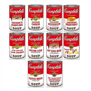 """Andy Warhol """"Soup Can Series 2"""" Limited Edition 23x35 S"""