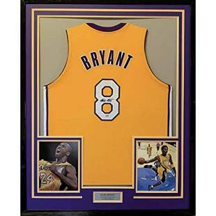 Kobe Bryant Los Angeles Lakers Autograph Signed Framed