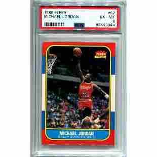 Michael Jordan 1986 Fleer Rookie #57 Card (PSA 6)