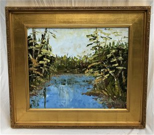 Alexandre Renoir ORIGINAL Framed Oil on Stretched Canva