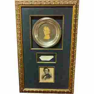 Franklin Pierce signed POTUS 14th President 1850's Ink
