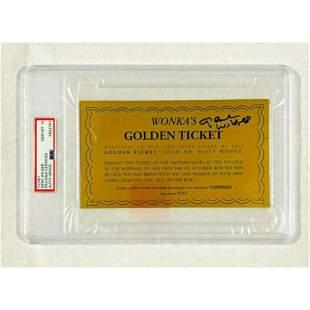 Gene Wilder Signed Willie Wonka Golden Ticket PSA/DNA