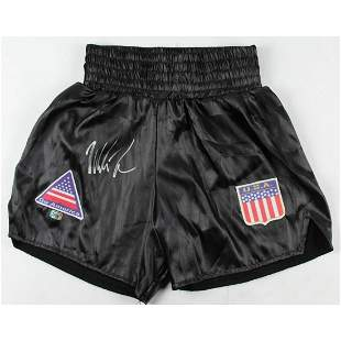 Mike Tyson Signed Boxing Trunks (Fiterman Sports