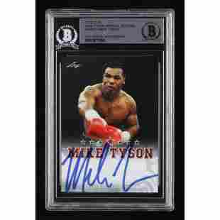 Mike Tyson Signed 2020 Leaf Special Edition Autographs