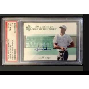 2005 SP Authentic Sign Of The Times Tiger Woods AUTO