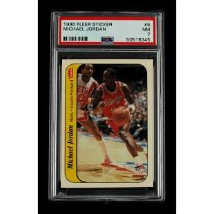 Michael Jordan 1986-87 Fleer Stickers #8 (PSA 7)