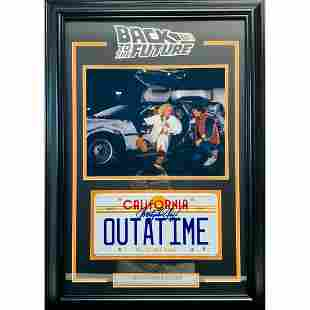 """CHRISTOPHER LLOYD SIGNED """"BACK TO THE FUTURE"""" LICENSE"""