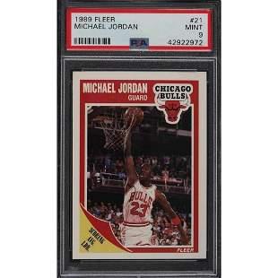 1989 Fleer Michael Jordan #21 PSA 9 MINT