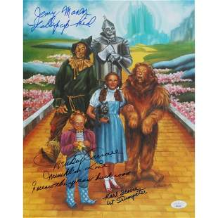 """Mickey Carroll, Jerry Maren, & Karl Slover Signed """"The"""