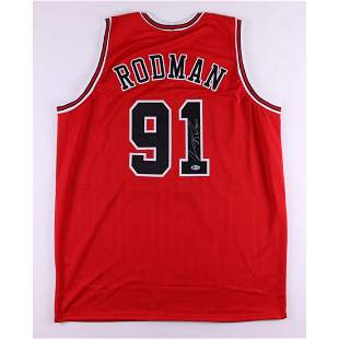 Dennis Rodman Signed Jersey (Beckett COA) (See