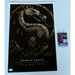 Cary-Hiroyuki Tagawa Signed Mortal Kombat Mini Poster