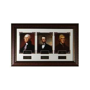 Founding Fathers 23x38 Eng Sig Series Framed w/ Thomas
