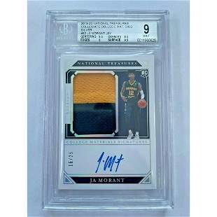 BAKER MAYFIELD 2018 NATIONAL TREASURES AUTO #/99 BGS